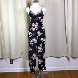 AE Black floral cut out romper size extra small